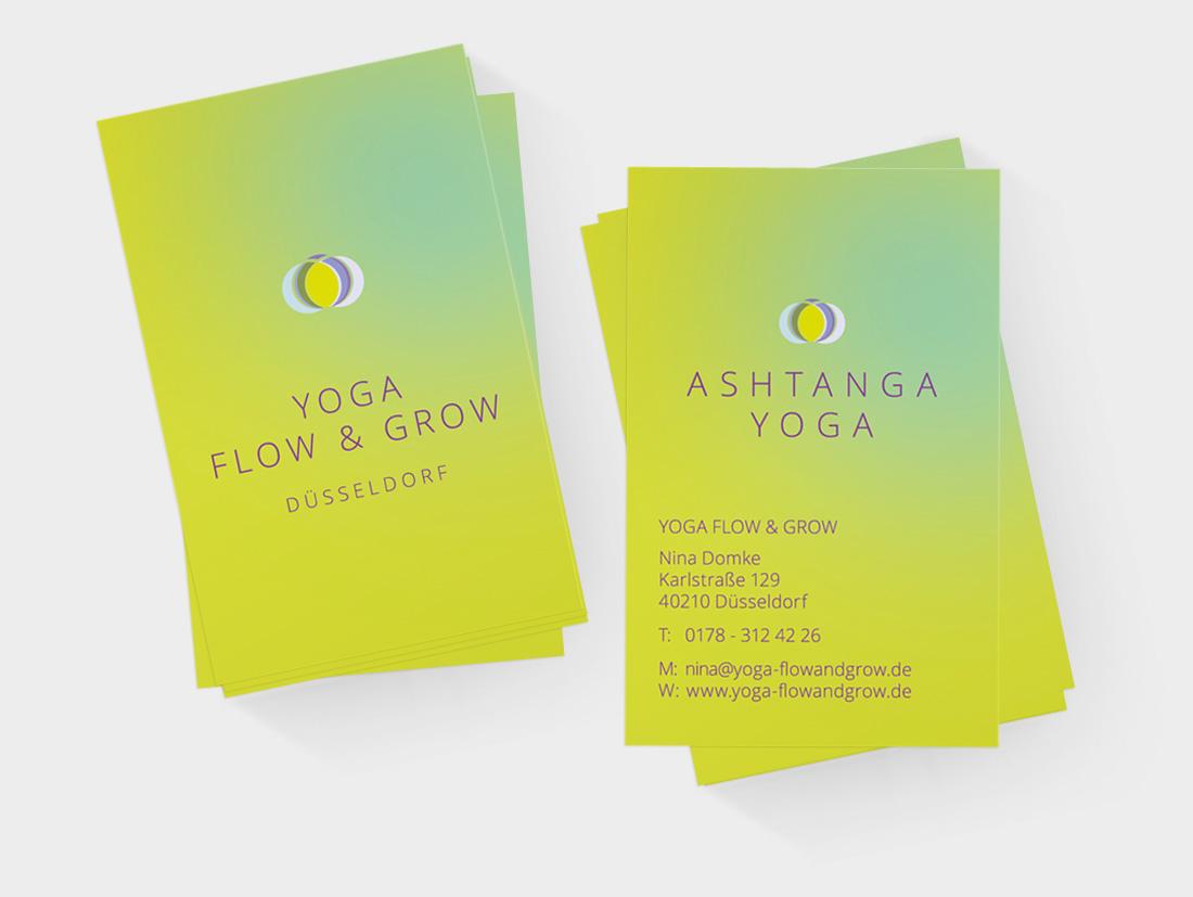 Visitenkarten Für Yoga Flow Grow In Düsseldorf